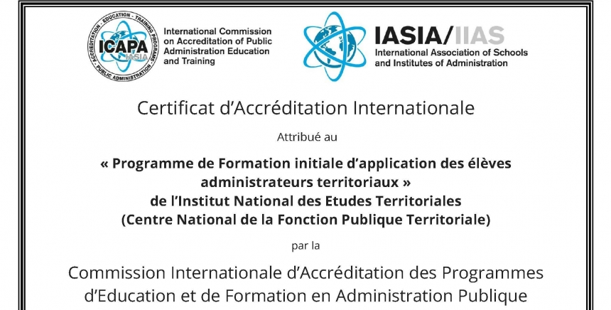 89dbf1af1cb L INET vient de recevoir une accréditation de l International Commission on  Accreditation of Public Administration Education and Training Programs  (ICAPA) ...