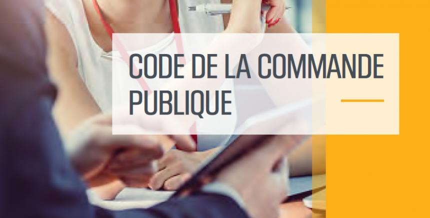 Code de la commande publique consolidé
