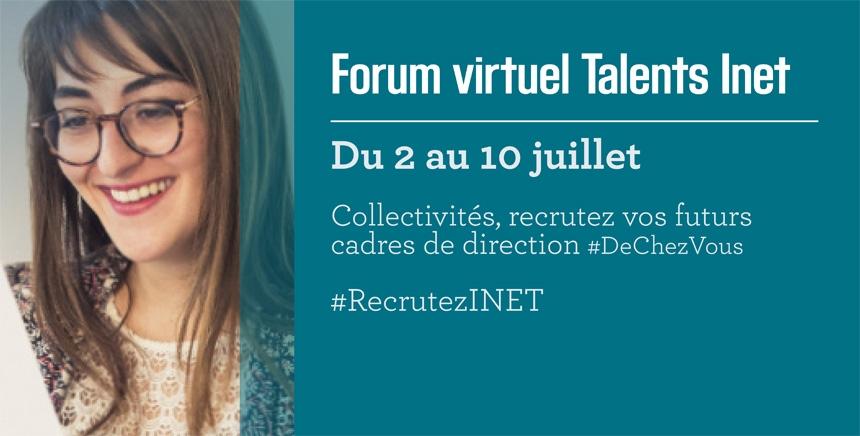 Un forum de recrutement en ligne pour organiser des entretiens avec des cadres de direction issus de l'INET.