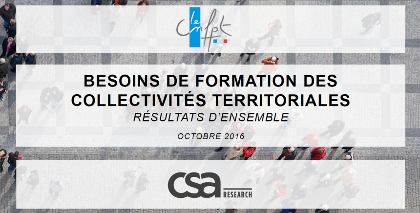 Les besoins de formation des collectivités territoriales, résultats d'ensemble, octobre 2016