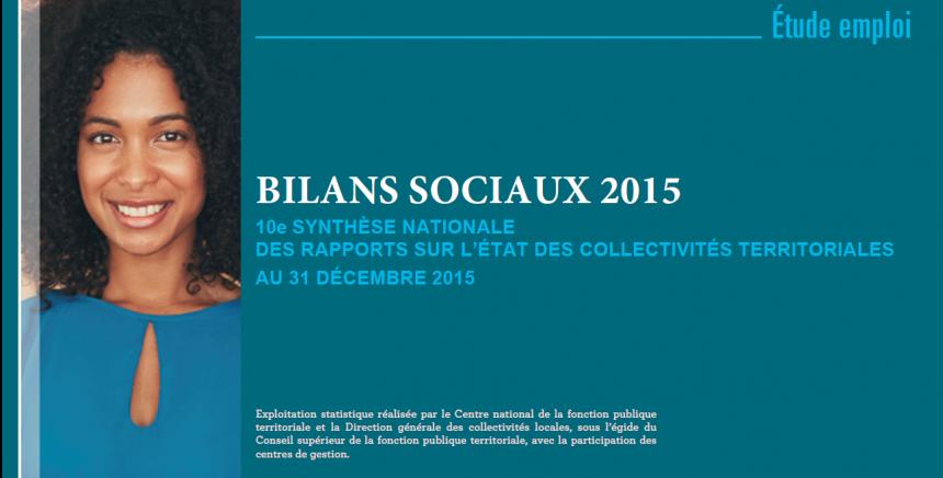 Synthèse des bilans sociaux au 31 décembre 2015