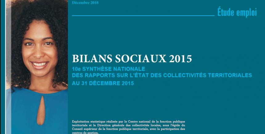 Synthèse des bilans sociaux des collectivités au 31 décembre 2015