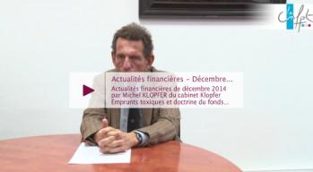 Actualités financières - décembre 2014